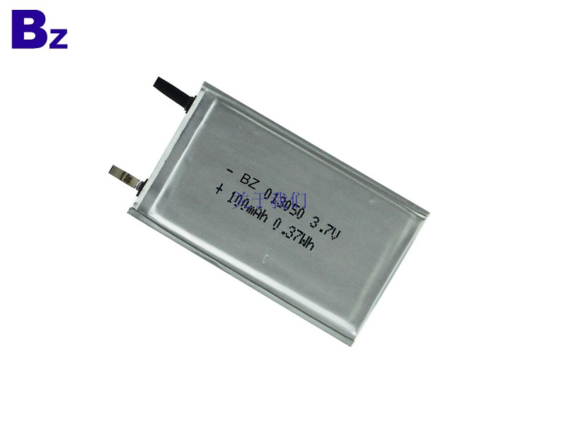 013050 100mah 3.7V Ultra Thin Battery