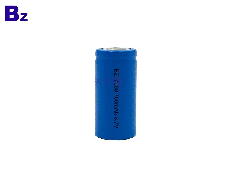 Customized Cylindrical Battery BZ 17360 750mAh 3.7V Rechargeable Li-ion Battery