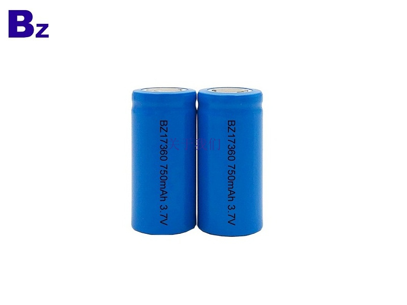 Cylindrical Battery BZ 17360 750mAh 3.7V Rechargeable Li-ion Battery