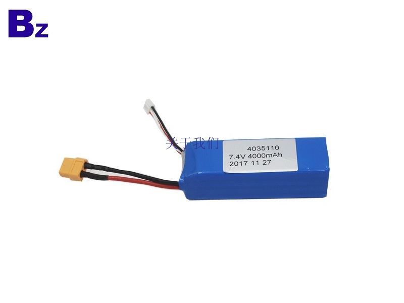 4000mah 7.4V 5C Rechargeable LiPo Battery Pack