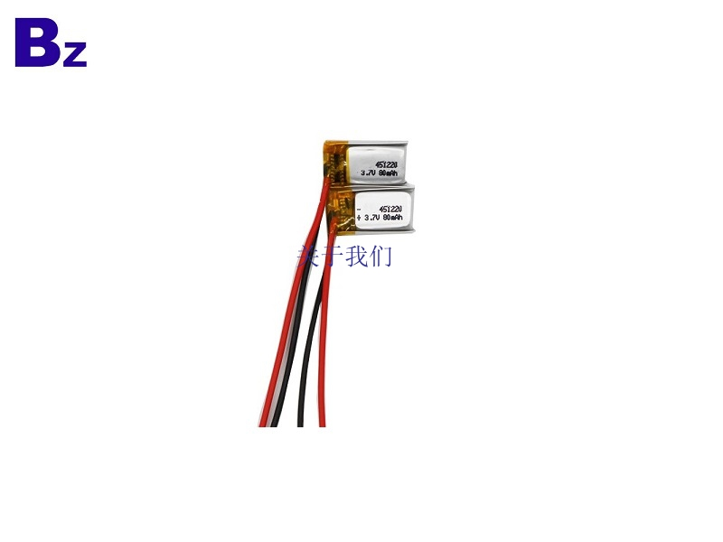 451220 80mah 3.7V LiPo Battery For Wearable Device