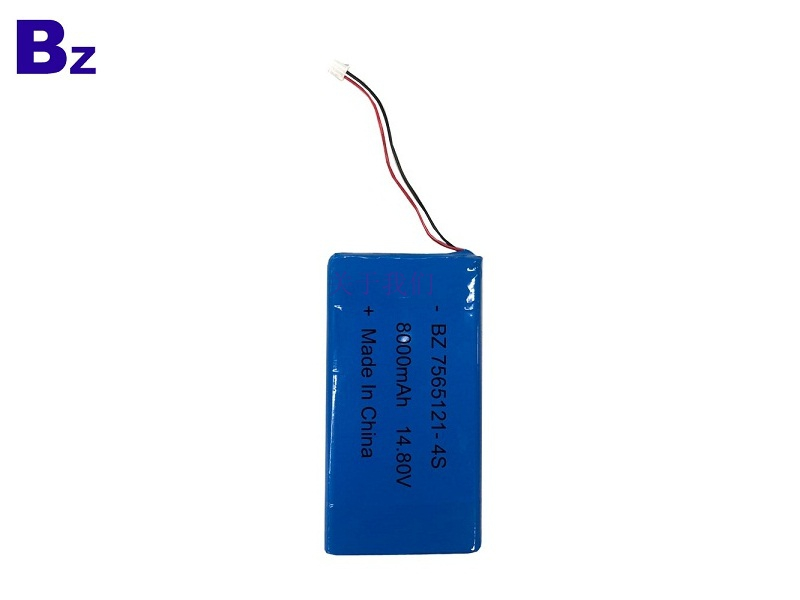 Hot Selling Rechargeable Polymer Li-ion Battery BZ 7565121-4S 14.8V 8000mAh Lipo Battery Pack